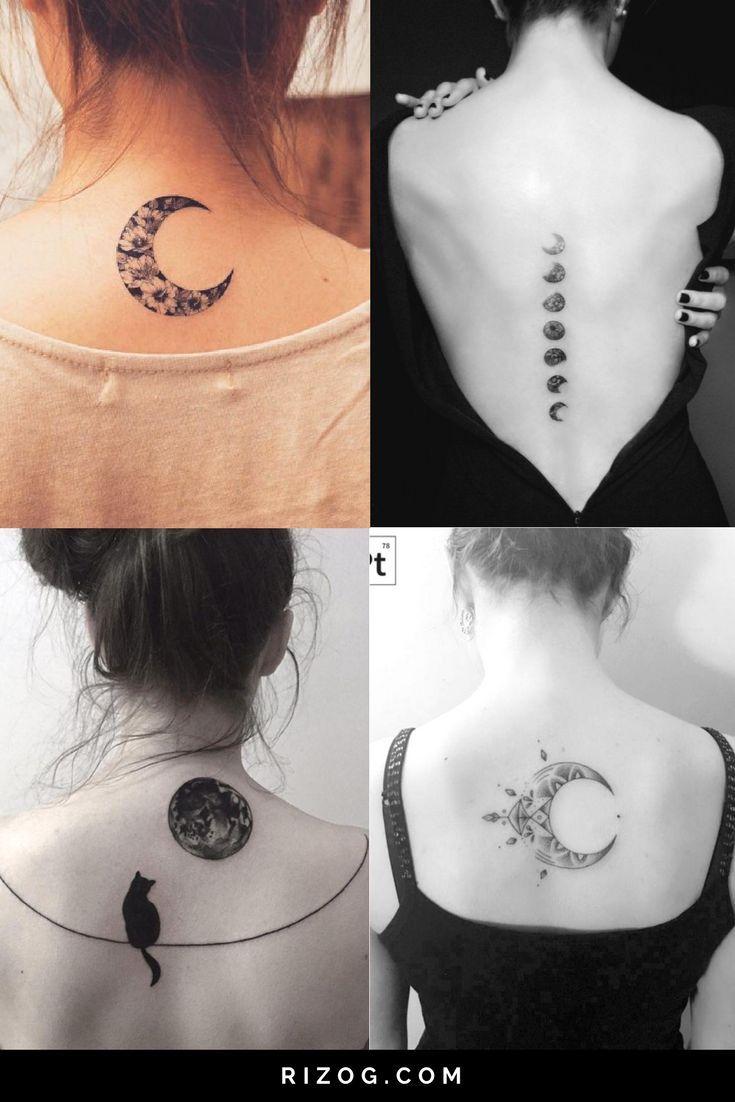 Tatuajes de La Luna en la espalda para mujeres