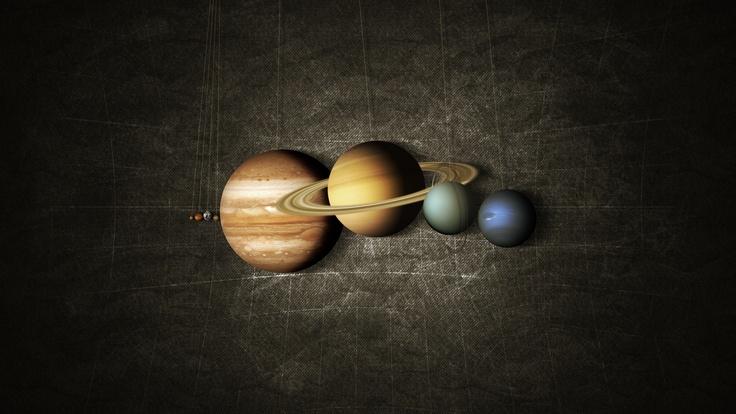 Карта, солнечная, система, планеты, на веревочке