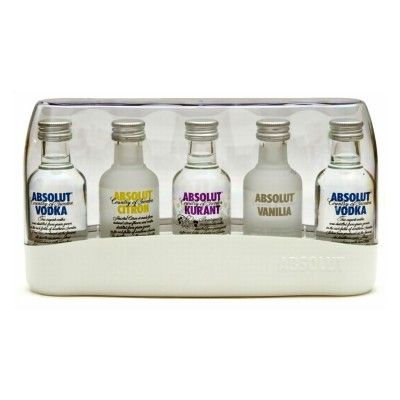 Absolut Vodka – Absolut Five – 5 Mini-Flasche 50ml Geschenkset: http://cocktail-glaeser.de/spirituosen/wodka/absolut-vodka-absolut-five-5-mini-flasche-50ml-geschenkset/