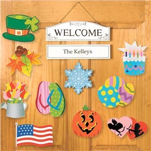 I have this above my entry table. personalized welcome sign is adorable and inexpensive.