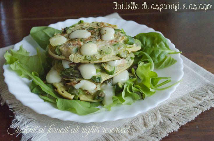 Frittelle di asparagi e asiago non fritte