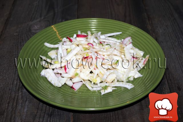 Простой салат с фенхелем от Джейми Оливера