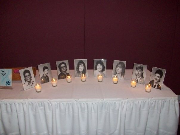 Class Reunion Memorial Table Ideas my final product memory board of classmates who have passed away scanned and printed class reunion ideasmemorial Find This Pin And More On Schools Out Foreverclass Reunion Ideas Memorial Table