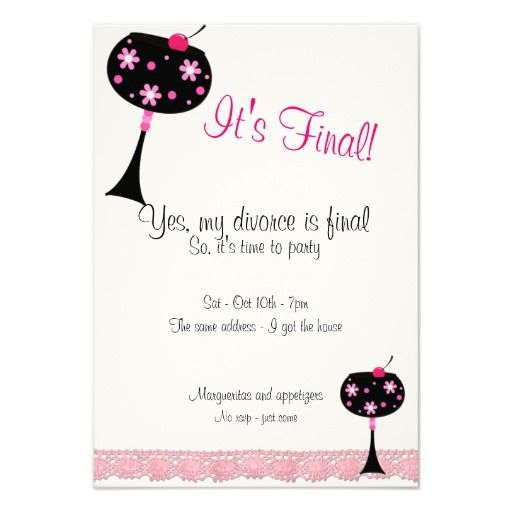 13 best Divorce images on Pinterest Party invitations Divorce