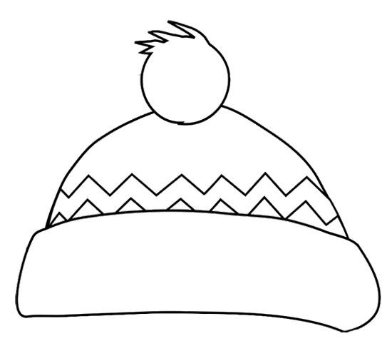 Winter hat coloring page preschool winter fun Coloring book hat
