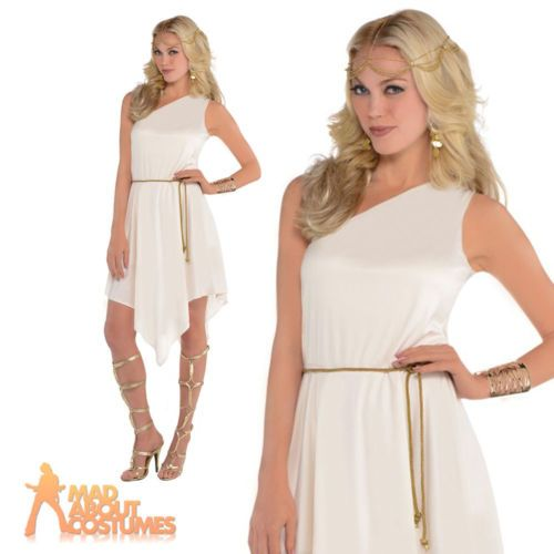 Adult #greek goddess costume #ladies #grecian roman toga fancy dress outfit new,  View more on the LINK: 	http://www.zeppy.io/product/gb/2/152139671828/
