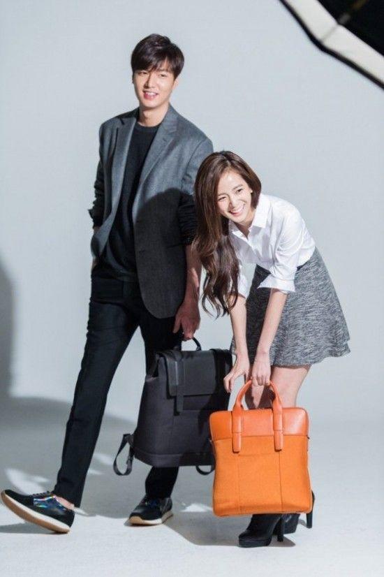 Lee Min Ho and YG trainee Kim Ji Soo show off their good looks in bts cuts for 'Samsonite RED' | allkpop.com