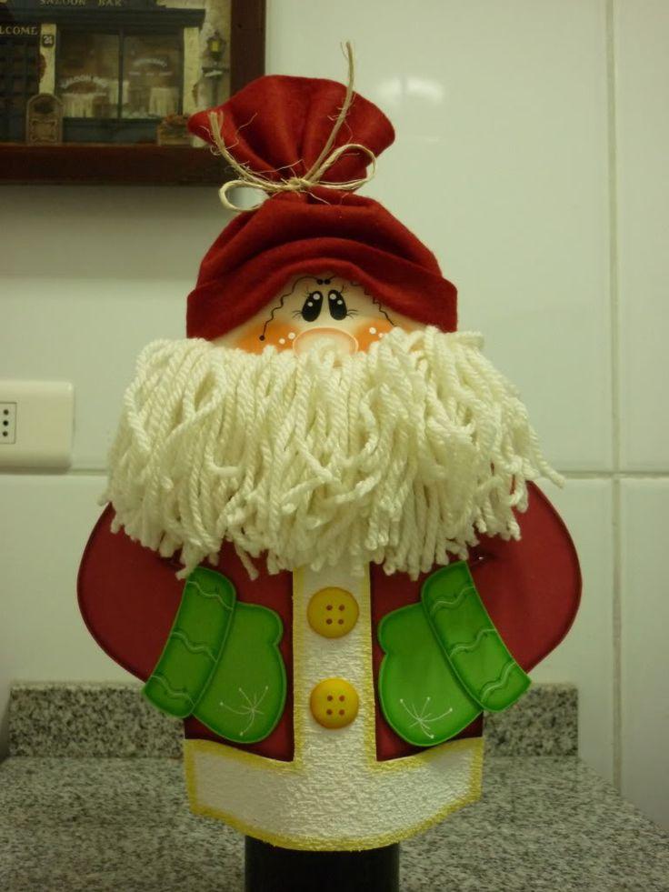 Art País em Goma Eva: Capa Garrafa Natal