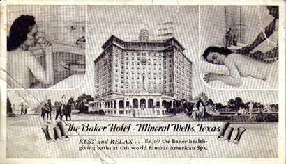 Abandoned hotel complex Mineral Wells TX
