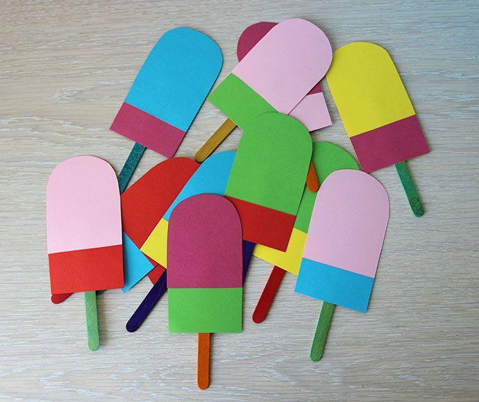 Letterslingers en slingers met vlaggetjes zijn hartstikke hip. Daarom leek het mij leuk om een andere variant te maken voor deze zomer: een ijsjesslinger!
