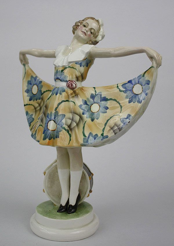 A rare Art Deco figure by Lorenzl for Goldscheider  circa 1923