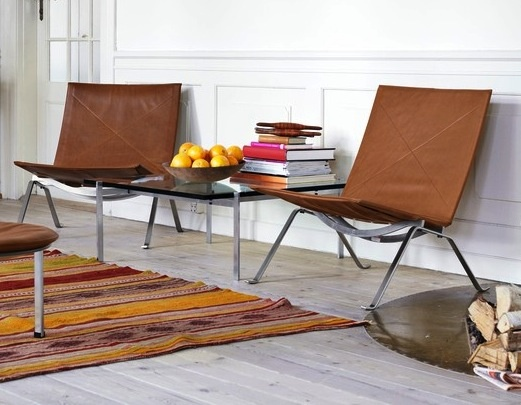 Thumbnail of PK22Lounges Chairs, Poule Kjærholm, Fritz Hansen, Livingroom, Living Room, Poule Kjaerholm, Easy Chairs, Leather Chairs, Kjaerholm Pk22