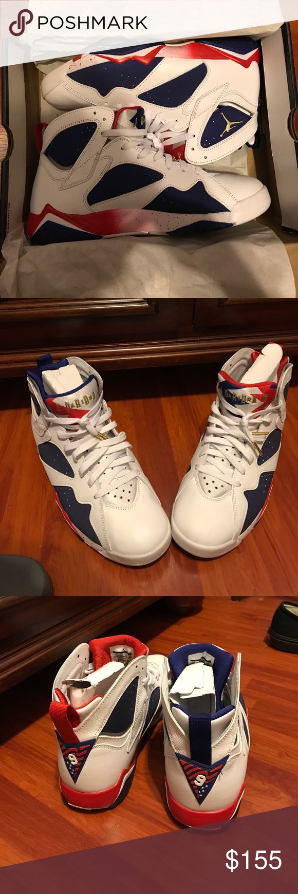 Brand New Jordan retro7 Olympic alternate size 11 Brand new with box worn once is in Great condition Jordan Shoes Sneakers