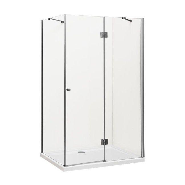 Kabina Prysznicowa Prostokatna Durasan Livorno 80 X 100 X 190 Cm Chrom Transparentna Prawa Tall Cabinet Storage Locker Storage Tall Storage