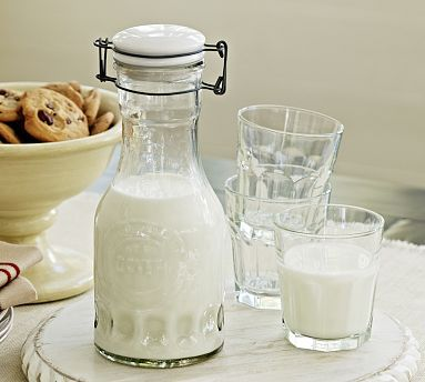 Glass Milk Carafe from Pottery Barn.....  These are pretty easy to come by at TJ Maxx, Homegoods, World Market for half the price (or less), but I sure love the chubby shape of this one!! $19