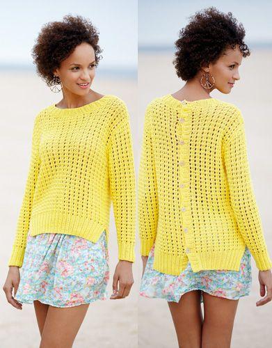 Revista mujer Casual 77 Primavera / Verano   19: Mujer Jersey   Amarillo