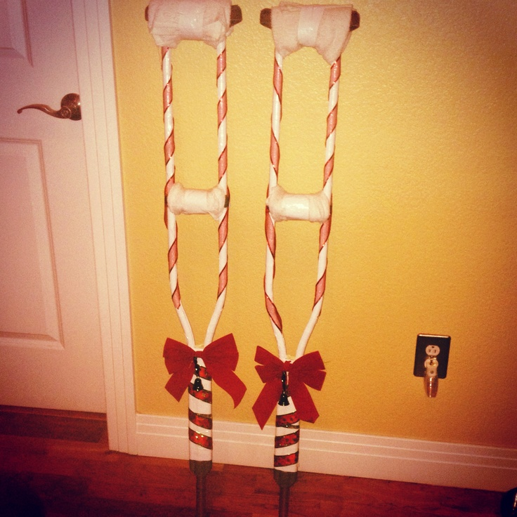 DIY Christmas Crutches