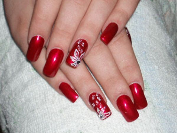 Best 25+ Red nail art ideas on Pinterest | Red nails, Nails fall 2016 art  designs and Fall nails - Best 25+ Red Nail Art Ideas On Pinterest Red Nails, Nails Fall