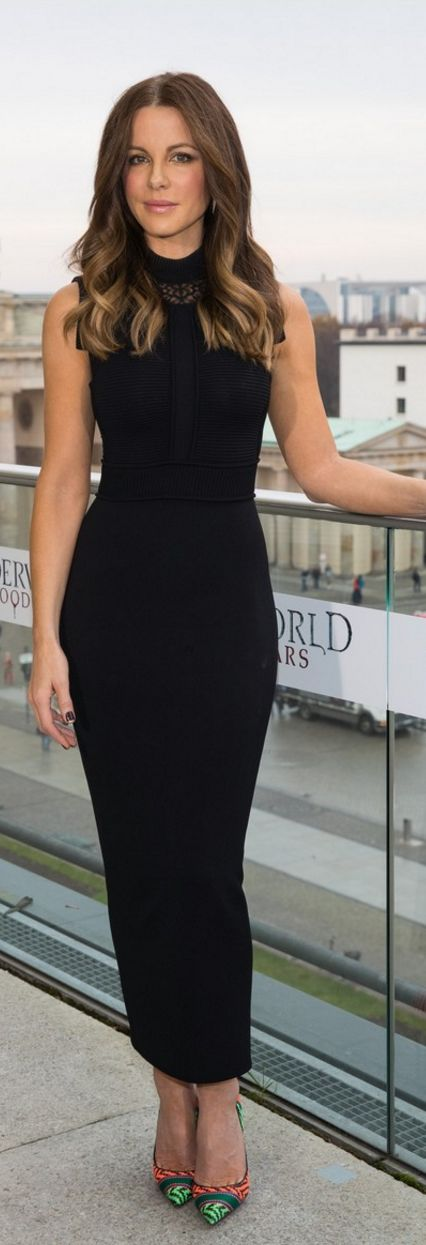 Kate Beckinsale in Dress – Elie Saab Shoes – Christian Louboutin Earrings – Established                                                                                                                                                                                 More