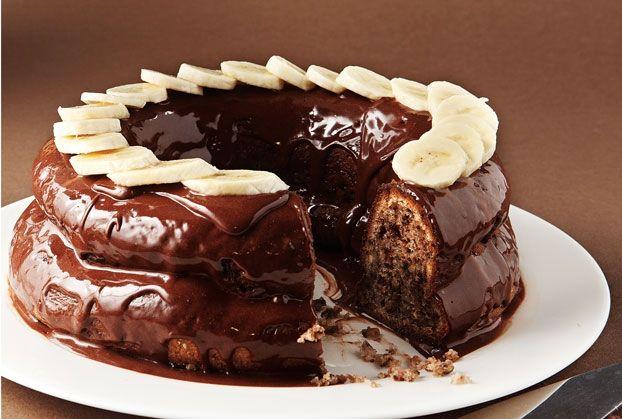 Σοκολατένιο μπανάνα κέικ