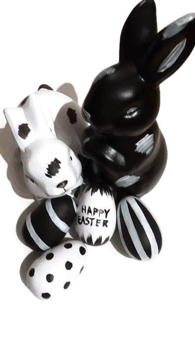Picture- easter buddies in black and white