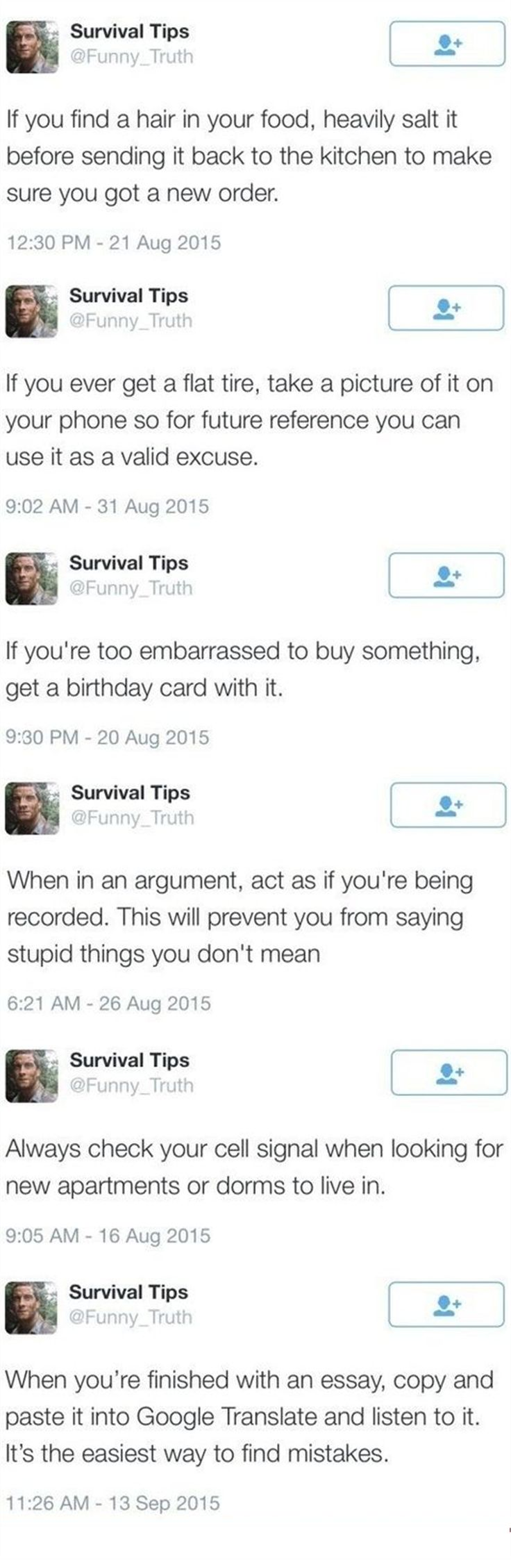 """The Best, """"Get Through Life Survival Tips"""" You'll See All Day – 6 Pics"""