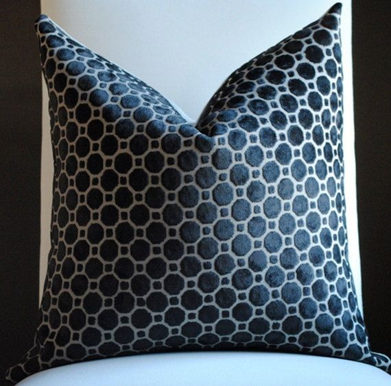 Beautiful velvet home decor pillow cover by nelsondesign on etsy honeycomb hexagon - Enhance your home decor with fancy cushions ...