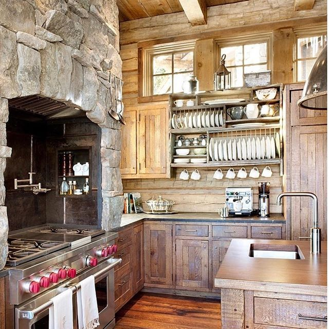 Gourmet Chef's Dream Kitchen, rustic, natural beauty with the highest-end equipment ~ #kitchen #architecture #design #luxuryhomes #slc #realestate #gourmetkitchen #chef #dream #decor #window #naturallight #woodworking #city #mountains #full #view #custom #construction #rock #wall #farmhousestyle #cabin #living - posted by Cindy Uriona https://www.instagram.com/cindyurionarealestate - See more Luxury Real Estate photos from Local Realtors at https://LocalRealtors.com/stream
