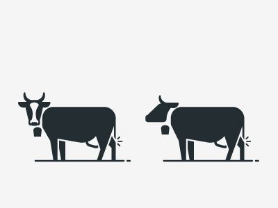 cow / Icons / Symbols / Pictograms / animal