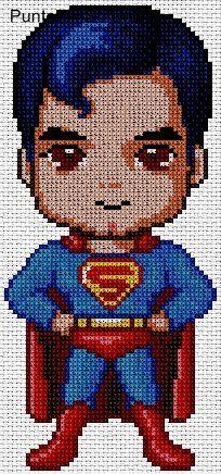 superman-baby en punto de cruz.
