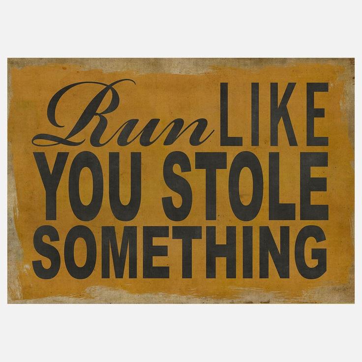 Fab.com | Run Like You Stole Something Ylw