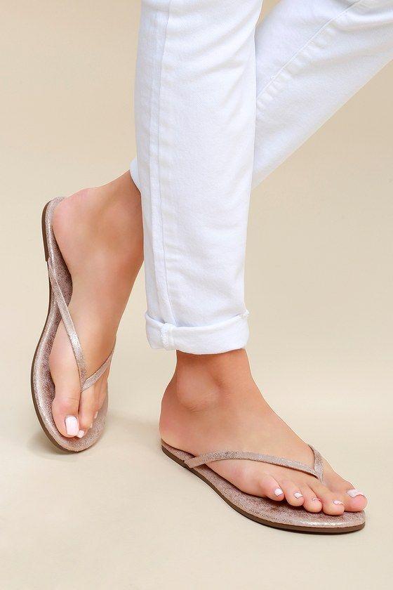 c2dea129e42 Matisse Malibu Sandals - Metallic Sandals - Flip-Flops