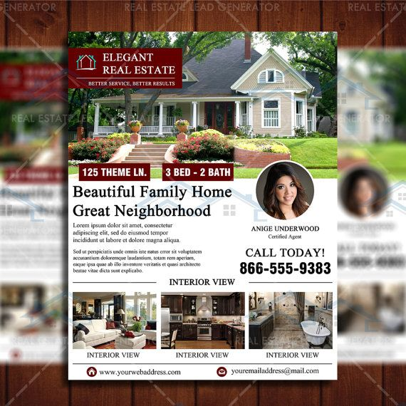 Clean Featured Listing Real Estate Marketing Template by Real Estate Lead Generator
