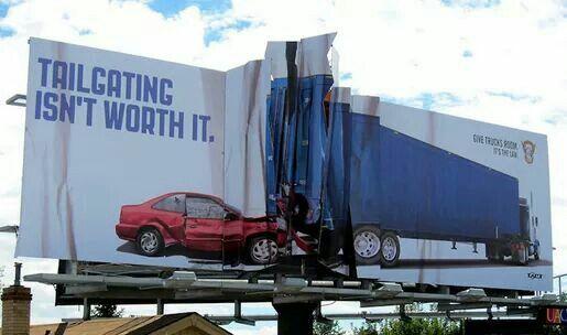 Tailgating isn't worth it.