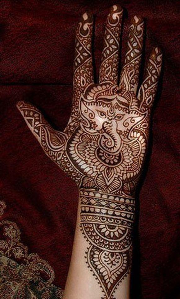 lord Ganesha mehndi design for hand