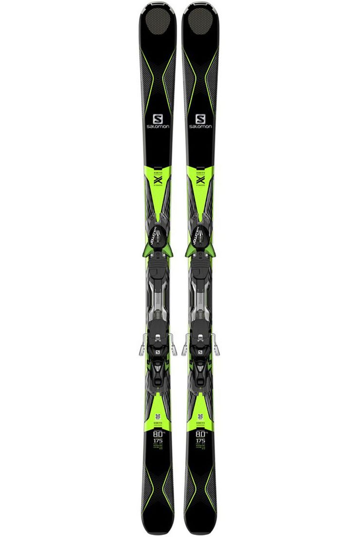 The 2017 Salomon XDrive 8.0 FS All mountain Ski with Salomon XT12 Alpine Ski Binding makes an excellent option for the strong intermediate to expert skier that is looking for edge grip and stability on a lively frontside ski.