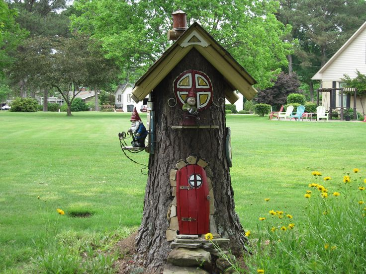 Gnome Tree Stump Home: Perfect Gnome Houses From Stumps @XZ41