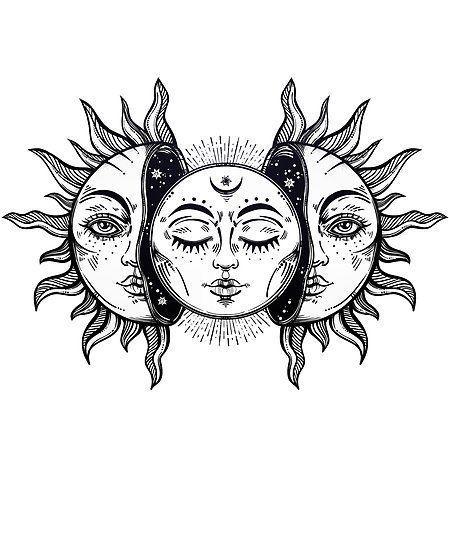Sonnenfinsternis Vintage Sol y Luna • Kaufen Sie dieses Kunstwerk auch auf …