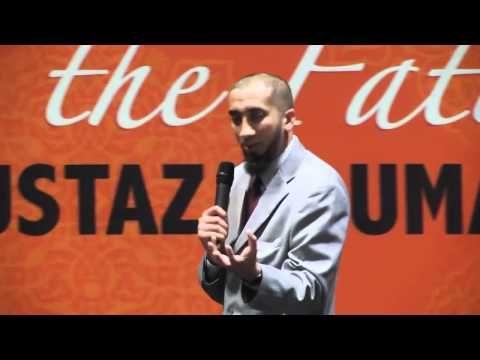 I cried...beautiful beautiful beautiful! ---  Nouman Ali Khan Rediscovering The Fatihah Part 1 - YouTube