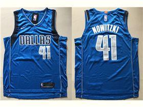 9722d3e3c Dallas Mavericks  41 Dirk Nowitzki Blue Authentic Jersey