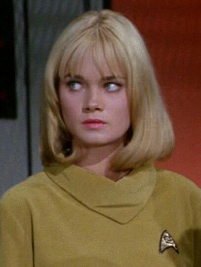 """Yeoman Smith (Andrea Dromm) - Star Trek: The Original Series S01E03: """"Where No Man Has Gone Before"""" (First Broadcast: September 22, 1966)"""