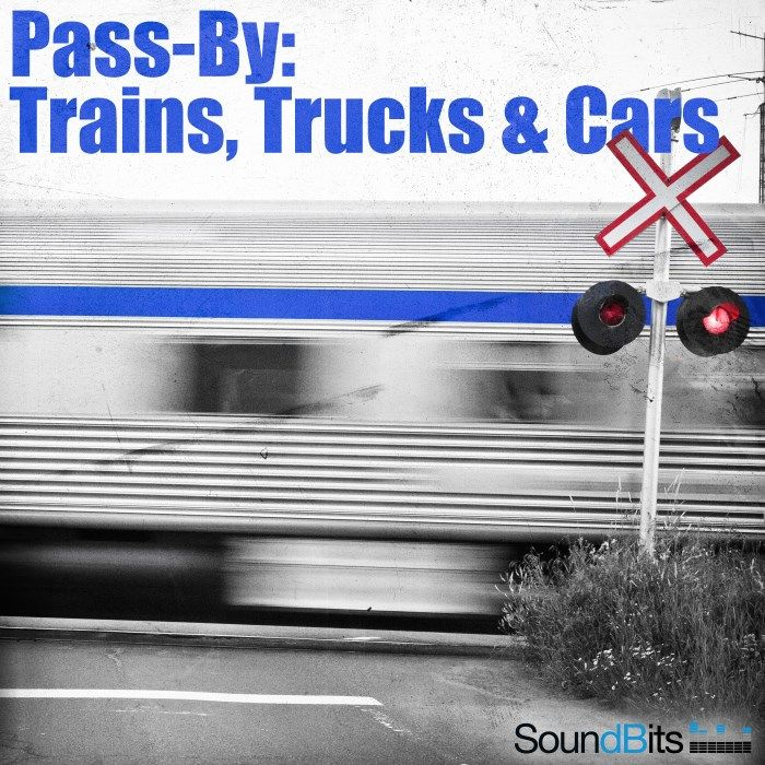 Pass-By: Trains, Trucks & Cars Sound Effects library: http://www.asoundeffect.com/sound-library/pass-trains-trucks-cars/