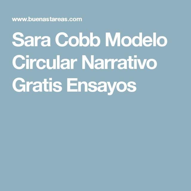 Sara Cobb Modelo Circular Narrativo Gratis Ensayos