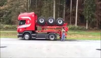 A compact truck..