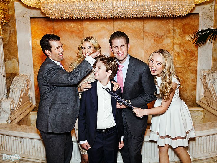 Celebrity Apprentice: Ivanka, Donald Jr., and Eric Trump Know They're 'Spoiled' } Nice to see Barron and Tiffany in the picture
