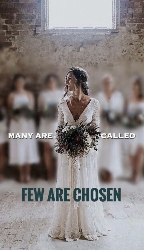 "Matthew 22:14 ""For many are called, but few are chosen.""  thevoiceoftruthblog.weebly.com"