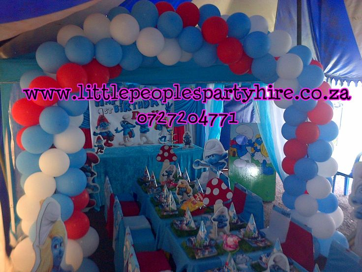 Smurf Themed Party By Little Peoples Party Hire Kids