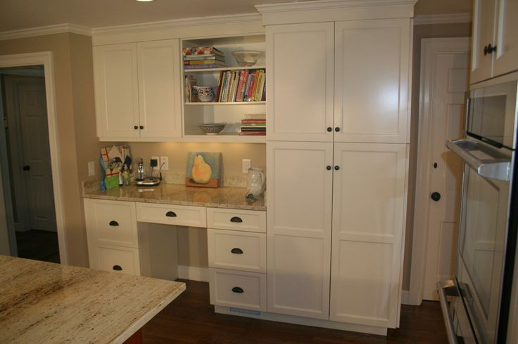 Built in desk in the kitchen office desk areas for Built in desk in kitchen ideas