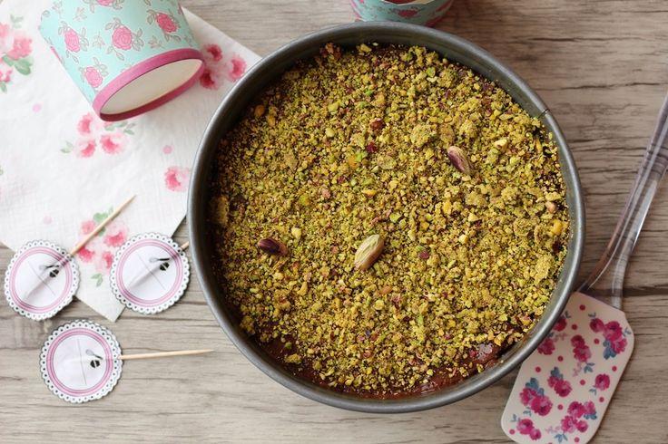 Cheesecake al cioccolato e pistacchio - http://www.chizzocute.it/cheesecake-al-cioccolato-e-pistacchio/