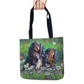 Tote Storage Bags Spaniel Dog Printed Shopping Bag